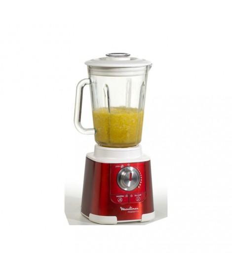 blender mastermix 850w 1.5l bol verre rouge rubis moulinex