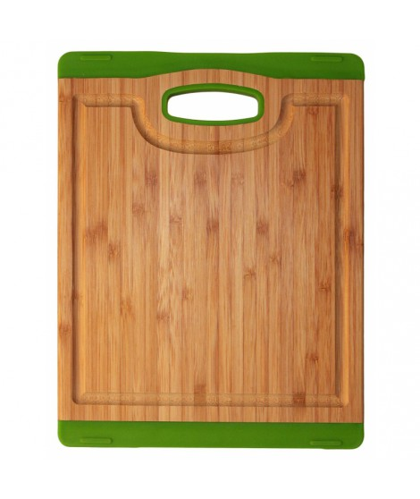 Planche bamboo/silicone verte- 20 x 26.5 cm- Totally Bamboo