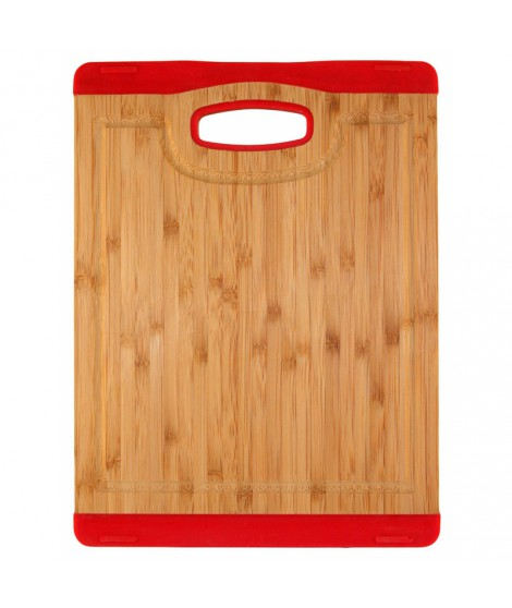 Planche bamboo/silicone rouge- 25 x 35.5 cm- Totally Bamboo