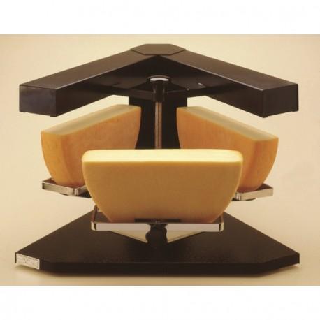 Appareil à raclette électrique 3 demi-meules de fromage