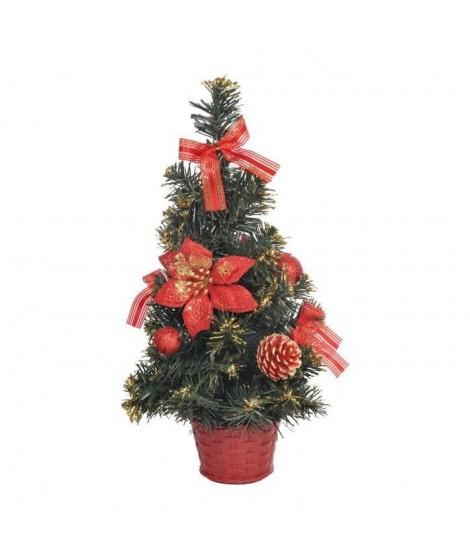 Sapin de Noël Artificiel lumineux Rouge 40 cm