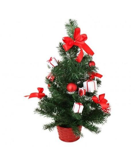 Sapin de Noël avec boites Rouges & Blanches 50cm