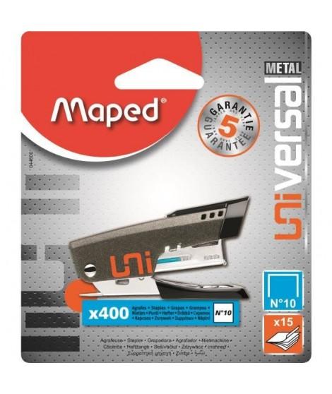 MAPED Mini-agrafeuse Universal - Métal N°10 + 400 agrafes