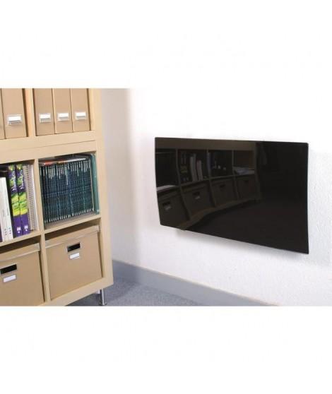 DX DREXON Radiateur inertie fonte façade verre noir 1000W