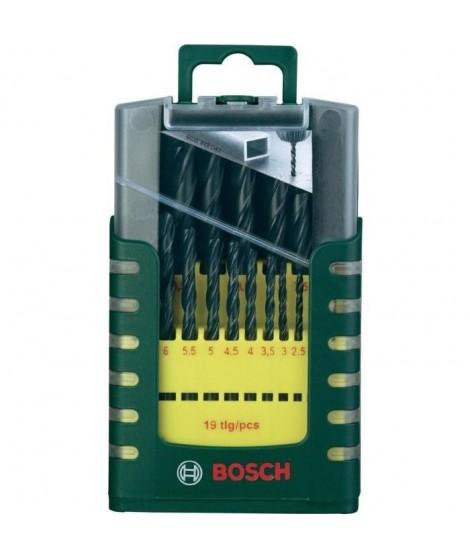 BOSCH Set de 19 forets a métaux laminés HSS 1 a 10 mm NEUF