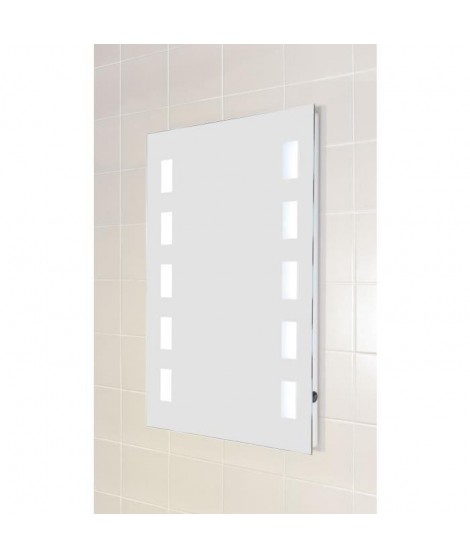 Miroir verre LED 50x70 cm - Bar lumineux