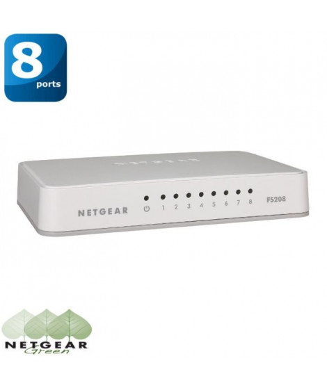 Netgear switch 8 ports Ethernet FS208