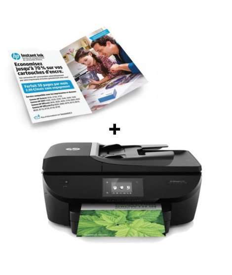 Imprimante HP Officejet 5740 +  Forfait Instant Ink 50 pages