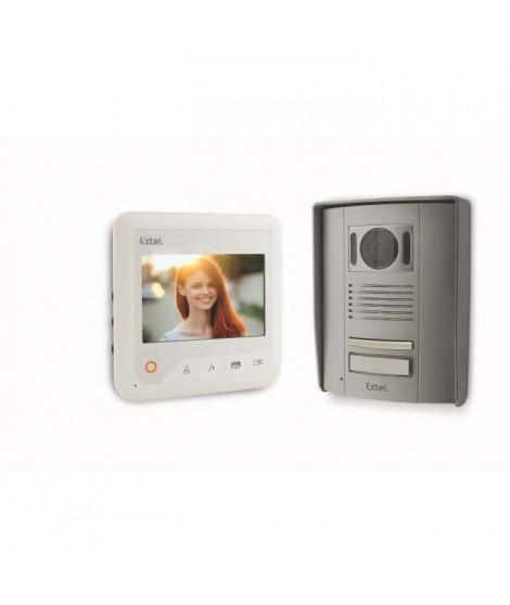 """EXTEL Visiophone Entry 2 fils écran couleur 4,3"""" pouces a vision nocturne"""