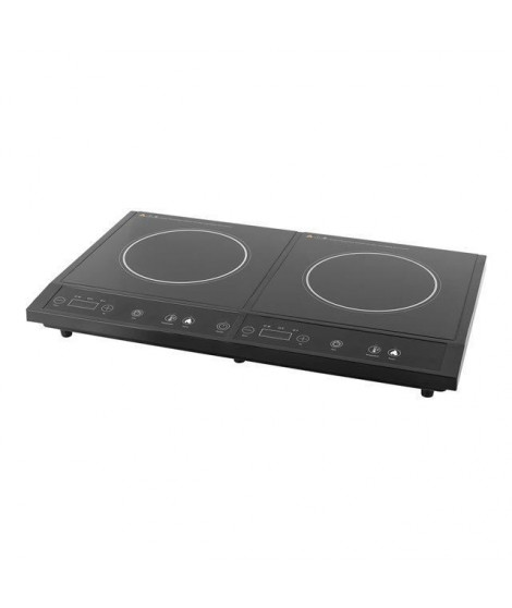 TRISTAR IK-6179 Plaque de cuisson posable induction ? 2 foyers (2 x 24 cm) ? 1400W + 2000W - Noir