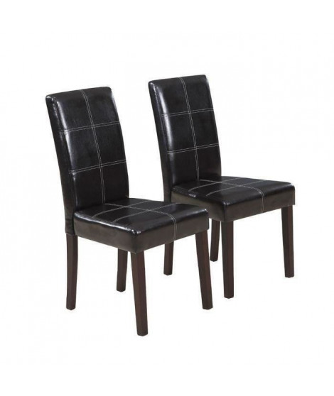 CROSS Lot de 8 chaises de salle a manger marron