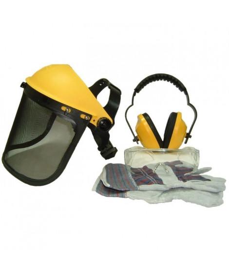 JARDIN PRATIQUE Kit de protection OZAKI - Ecran grillagé relevable + lunettes de sécurité + casque anti-bruit ajustable et gants