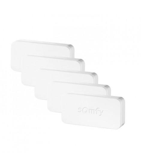 SOMFY Pack de 5 détecteurs de vibration et d'ouverture pour portes et fenetres IntelliTAG