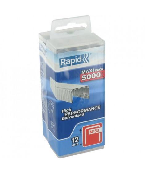 Agrafe n°53 Rapid Agraf - Dim.12mm - 5000 agrafes