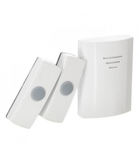 ELRO Carillon sans fil portable avec 2 boutons poussoir 4 mélodies