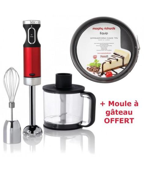 Pack MORPHY RICHARDS Pied Mixeur 48987 + Moule a gâteau M970515EE OFFERT