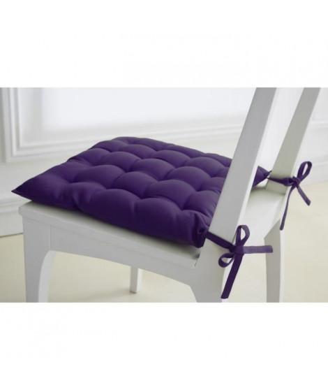 TODAY Assise matelassée 40x40cm 100% coton 16 points Purple