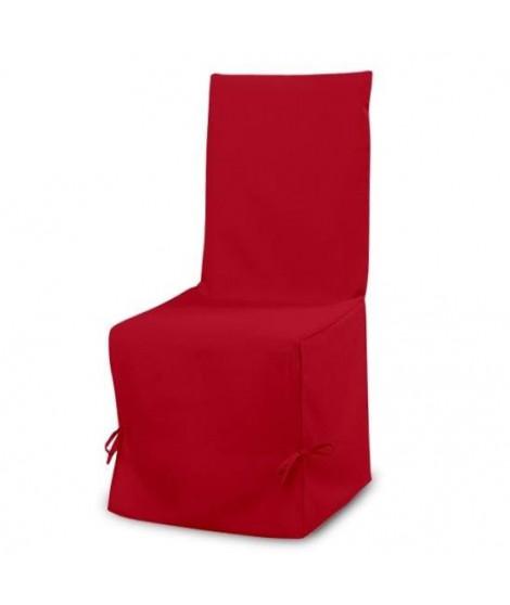 SOLEIL D'OCRE Housse de chaise Panama 50 cm rouge