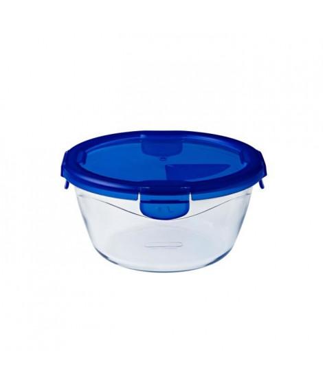 PYREX COOK&GO Plat de conservation rond 1,6l 20cm + Couvercle bleu