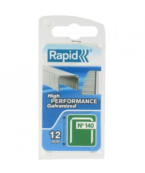 RAPID Agrafes galvanisées - Fil plat - N°140/12 mm