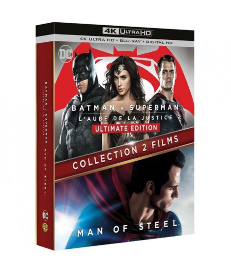 Blu-Ray 4K BATMAN VS SUPERMAN + Man of steel
