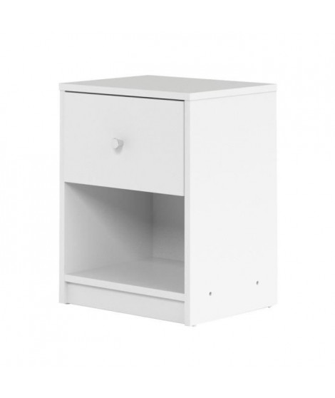 FINLANDEK Table de chevet TYYLIKÄS style contemporain décor blanc - L 38 cm