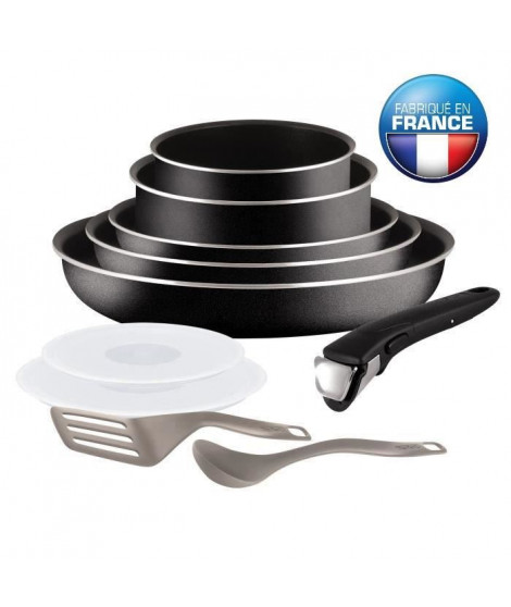 TEFAL INGENIO Set 10 pieces Essential noir