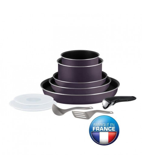TEFAL INGENIO ESSENTIAL Batterie de cuisine 10 pieces 3168430232839 16-18-20-22-26cm Tous feux sauf induction cassis
