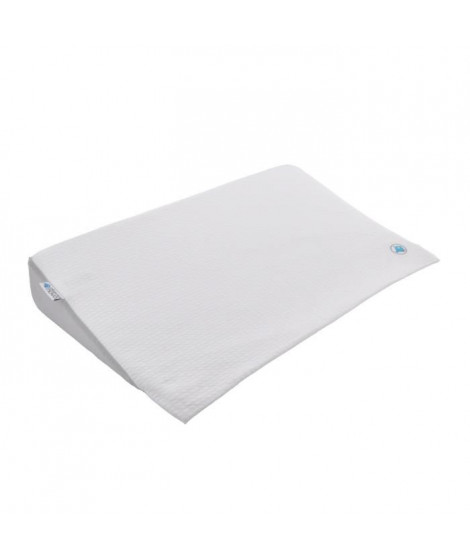 DOUX NID NOVA Plan Incliné 15° Grand Confort - Pour Lit 60x120 Cm - Jersey - Perle / Blanc
