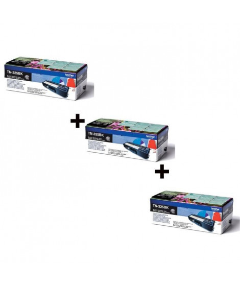 Brother TN-325BK Toner Laser Noir x3