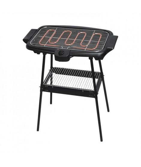 HARPER BQS1000BLK Barbecue Electrique - 2000W - Sur pieds - Noir