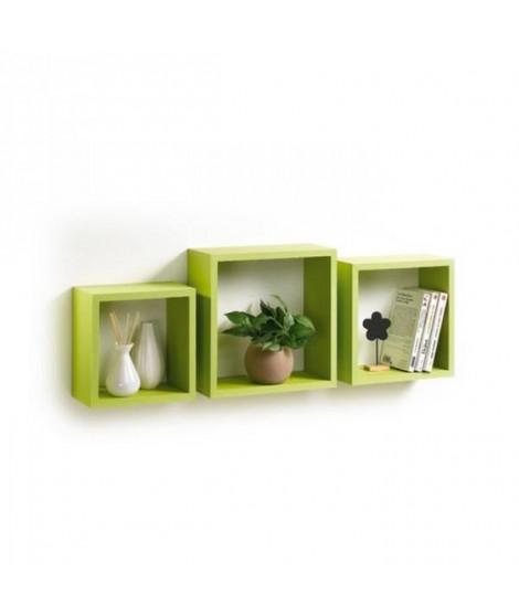 CODICO Set de 3 cubes gigognes Homeo 23-26-30 cm vert