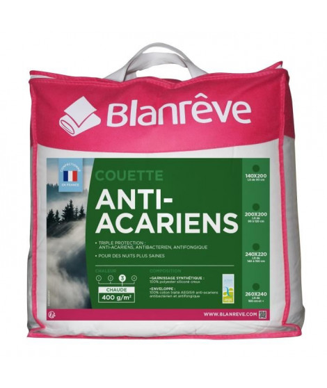 BLANREVE Couette Anti-Acarien 400gm2 240x260cm