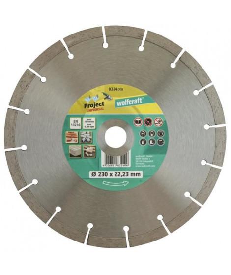 WOLFCRAFT Disque diamant béton Pro Uni - Diametre: 230 x 22.2 mm