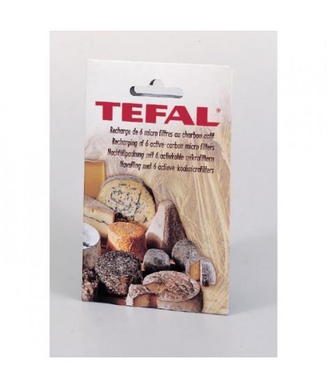 TEFAL 6 Filtres recharge pour cave a fromages anti-odeur noir