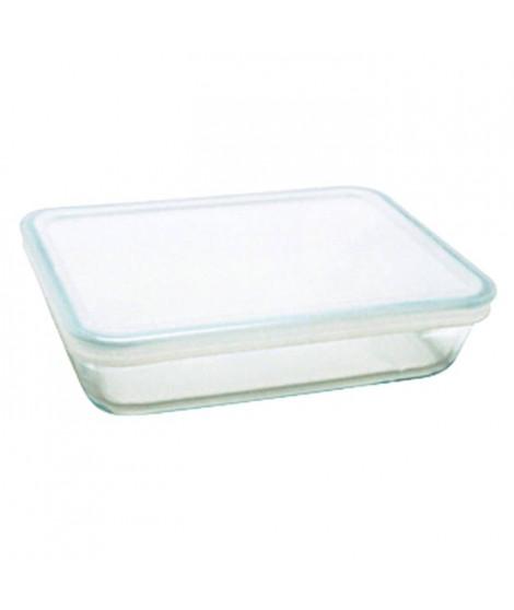 PYREX Plat rectangulaire 1.5 L en verre + Couvercle en plastique COOK&FREEZE
