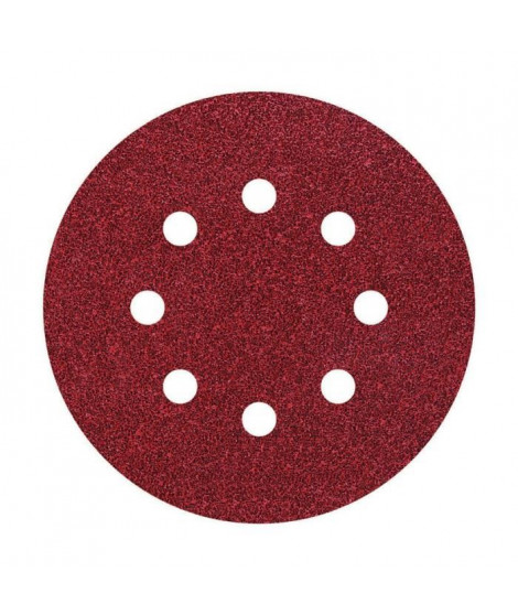WOLFCRAFT - 5 Disques abrasif auto-agrippants - Grain : 24 - Ø125mm