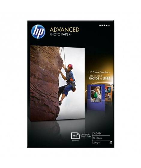 Papier photo HP 25 feuilles 10x15 250g