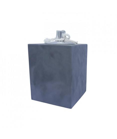 HOMEA Lampe a huile déco esprit béton H10 cm gris