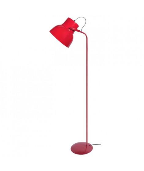CLOCHE Lampadaire liseuse H150cm Rouge