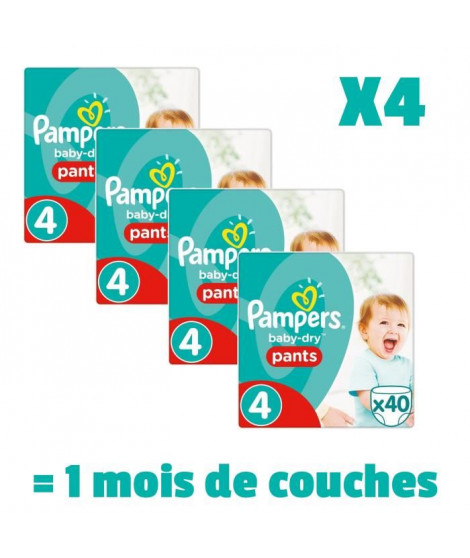 Pampers Baby Dry Pants Taille 4 8 a 15kg 160 couches