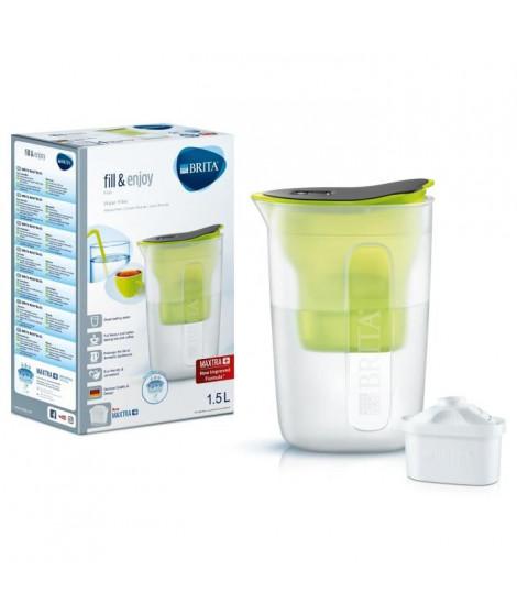 BRITA Carafe filtrante Fun 1,5 L + 1 cartouche Maxtra+ vert