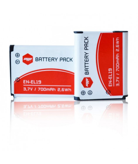 MP EXTRA  MP-PACK-BAT-ENEL19  Pack de 2 batteries ENEL19 pour NIKON