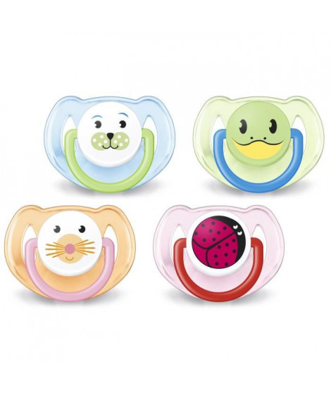 AVENT 2 Sucettes Orthodontiques Silicone SCF182/24