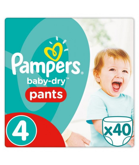 Pampers Baby Dry Pants Taille 4 8 a 15kg 40 couches