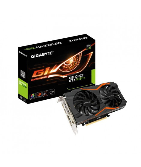 Gigabyte Carte graphique GeForce GTX 1050 Ti G1 Gaming 4Go GDDR5