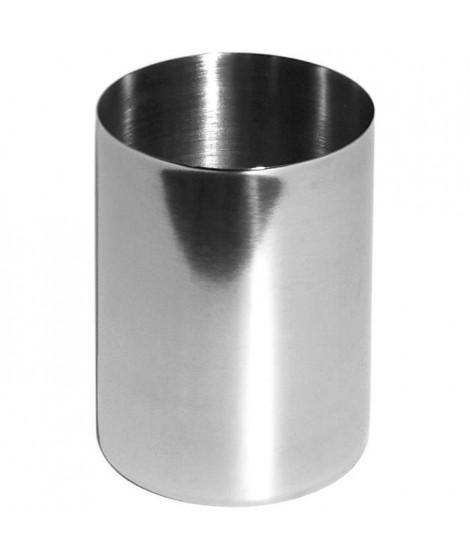 GELCO Gobelet a dents Actuel en métal chromé 7,3x7,3x9,8 cm