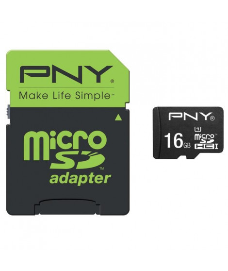 PNY MicroSDHC 16GB Performance 50MB/s + SD adapter