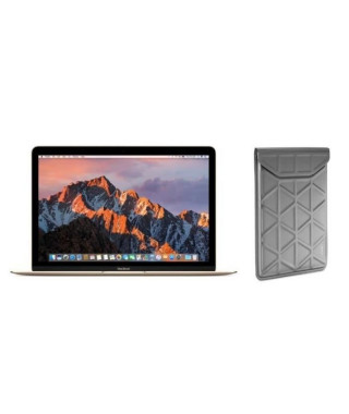 """APPLE MacBook MNYK2FN/A - 12"""" - Intel Dual Core M3 1.2GHz - Stockage 256 Go - Or + TARGUS Housse - Argent"""