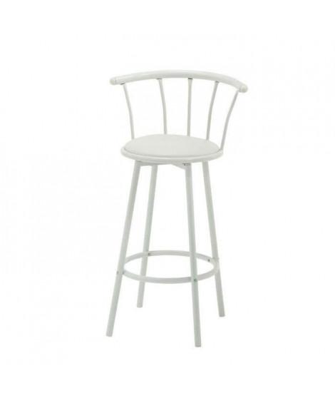 BISTROT Tabouret de bar blanc assise pivotante